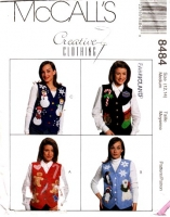 McCalls 8484 Christmas Holiday Vest Sewing Pattern Medium B36 Uncut