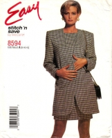 McCalls 8594 Chemise Dress with Thigh Length Jacket Sewing Pattern 8-12 B31-34 Uncut
