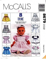 McCalls 8679 Infants Dress, Pinafore, Headband, Panties Sewing Pattern S-XL Uncut