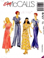 McCalls 8727 Princess Seam Dress or Jumpsuit Sewing Pattern 18-22 B40-44 Uncut