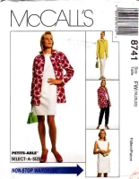 McCalls 8741 Sleeveless Dress, Jacket, Top, Pull-on Pants Sewing Pattern 18-22 B40-44 Uncut