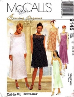 McCalls 9145 Evening Slipdress Dress Sewing Pattern 14-18 B36-40 Uncut