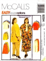 McCalls 9294 Shirt, Top, Pants, Skirt, Short Sewing Pattern Plus Size 22-26W B44-48 Uncut