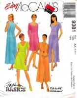 McCalls 9381 Pullover Casual Dress  Sewing Pattern 4-8 B29-31 Uncut