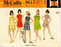 McCalls 9617 60s Western Yoked Dress Sewing Pattern 14 B36 Used