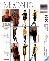 McCalls 9630 Plus Size Cardigan, Tunic, Dress, Pull-on Pants, Tote Sewing Pattern XL 20-22 B44 Uncut