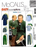McCalls 9638 Boys Robe, Shorts, Pajamas, PJs Sewing Pattern 3-8 Uncut