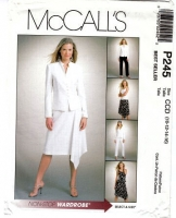 McCalls P245 Jacket, Top, Handkerchief Skirt & Tapered Pants Sewing Pattern 10-16 B32-38 Uncut