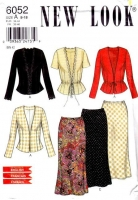 New Look 6052 Jacket & Straight Skirt Sewing Pattern 8-18 B31-40 Uncut