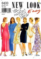 New Look 6433 Slimming, Back Draped Dress Sewing Pattern 6-16 B30-38 Uncut