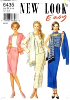 New Look 6435 Fitted Jacket, Sleeveless Top, Straight Skirt Sewing Pattern 6-16 B30-38 Uncut