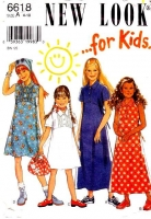 New Look 6618 Empire Waist Dress Sewing Pattern Girls' 4 Used