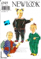 New Look 6949 Infant  Romper Playsuit Sewing Pattern 6-36 months Uncut