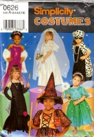 Simplicity 0626 Princess, Witch, Bride Costume Sewing Pattern Childs' 2-8 Uncut