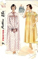 Simplicity 3388 Vintage 50s Nightgown Bedjacket Sewing Pattern 14 B32 Used