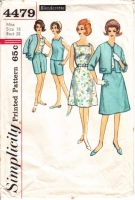Simplicity 4479 60s Skirt, Jacket, Blouse, Shorts Sewing Pattern 18 B38 Used