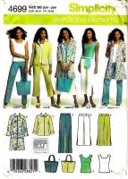 Simplicity 4699 Women's Pants, Coat, Jacket, Top Sewing Pattern 20W-28W Uncut
