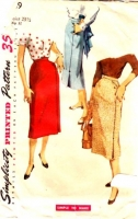 Simplicity 4769 50s One Yard Skirt Sewing Pattern W23.5 Used