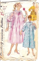 Simplicity 4972 50s Night Gown, Duster Robe, Housecoat Sewing Pattern 16 B34 Used