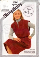 Simplicity 5194 Fast, Plus-Size Pullover Jumper Dress Sewing Pattern 16-20 B38-42 Uncut