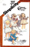 Simplicity 5257 Toddler Ruffle Cinderella Dress Sewing Pattern 2 Used