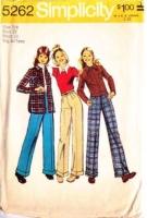 Simplicity 5262 70s Jacket, Shirt-Jacket, Pants Sewing Pattern Junior 7/8 B29 Used