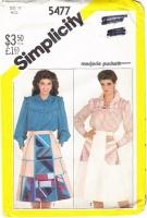 Simplicity 5477 Ruffle Blouse, Back Wrap Skirt Sewing Pattern 12 B34 Uncut