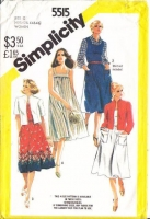 Simplicity 5515 Plus Size  Pullover Beach Dress, Sundress, & Jacket Sewing Pattern 40-46 B44-50 Uncut