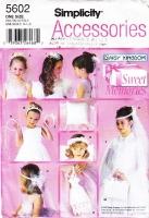 Simplicity 5602 Wedding & Communion Bun Wreath, Veil, Flower Girl Headpiece, Capelet, Bag, Ring Bearer Pillow, Book Cover Sewing Pattern Uncut