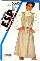 Simplicity 5660 Square Neck, Tent-style, Belted Jumper Dress Sewing Pattern 16-20 B38-42 Uncut
