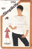 Simplicity 5794 80s Boat Neck, Batwing Top, Shirt Sewing Pattern 18-20 B40-42 Uncut