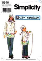 Simplicity 5946 Mom Daughter Embroidered Fleece Coat Sewing Pattern Girls 3-8 Misses 6-24 B30-46 Uncut