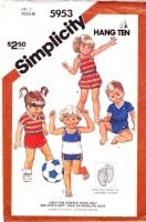 Simplicity 5953 Toddler Romper, Playsuit, Shorts & Tops Sewing Pattern 2 Uncut
