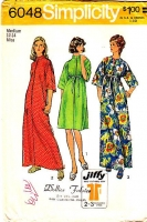 Simplicity 6048 Jiffy Short or Long Robe, Caftan, Bathrobe Sewing Pattern Medium B34-36 Used