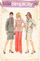 Simplicity 6233 Plus Size Safari Style Pants & Inverted Pleat Skirt Sewing Pattern 18 B40 Uncut