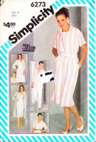 Simplicity 6273 Tapered Pants, Slim Skirt, Coat-Dress, Duster Jacket, Blouse Sewing Pattern 16 B38 Uncut