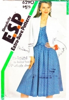 Simplicity 6290 Sleeveless Shirtwaist Dress & Cropped Jacket Sewing Pattern 10-14 B32-36 Uncut