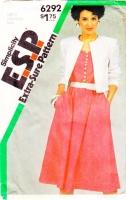 Simplicity 6292 Sleeveless, Belted Dress & Collarless Crop Jacket Sewing Pattern 16-20 B38-42 Uncut