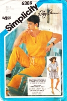 Simplicity 6389 Oleg Cassini Jumpsuit, Romper & Playsuit Sewing Pattern 12-16 B34-38 Uncut