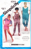 Simplicity 6395 Scoop-Neck Top, Jumpsuit & Romper Sewing Pattern 10-14 B32-36 Uncut