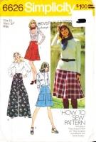Simplicity 6626 Palazzo Pants, Skirt, Wide Leg Pantskirt, Culottes Sewing Pattern 16 Waist 30 Uncut