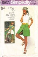 Simplicity 6903 Bike in Style with this Skort, Scooter Skirt, Pantskirt Sewing Pattern 10 Waist 25 Used