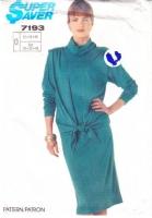 Simplicity 7193 Stretch Knit Cowl Neck Dress & Vest Pattern 12-16 B34-38 Uncut