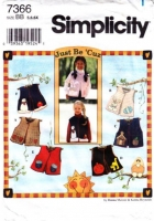 Simplicity 7366 Child's Halloween, Easter, Back to School Vest Sewing Pattern 5-6X Uncut