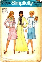 Simplicity 7394 Pussycat Bow Blouse, Gently Flared Skirt & Princess Seam Jacket Sewing Pattern 18-20 B40-42 Used