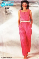 Simplicity 7571 Square-Neck Jumpsuit Sewing Pattern 12-16 B34-38 Uncut