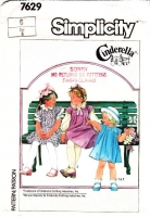 Simplicity 7629 Child's Finger Tip Length Jumper Dress & Blouse Sewing Pattern 6 Uncut