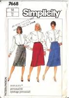 "Simplicity 7668 Business Wear Slim Skirt Sewing Pattern 14 Waist 28"" Uncut"