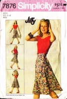 "Simplicity 7876 Jiffy Front Wrap Skirt Sewing Pattern 6-8 Waist 23-24"" Used"