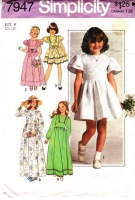 Simplicity 7947 Child's Flower Girl, Easter, Party Dress Sewing Pattern 4 Used